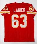 Willie Lanier Autographed Red Pro Style Jersey W/ HOF- JSA W Authenticated