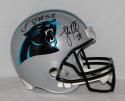 Luke Kuechly Thomas Davis Autographed Carolina Panthers F/S Helmet - JSA W Auth