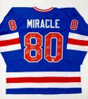 1980 Miracle On Ice Team USA Autographed Blue Jersey W/ 17 Sigs- JSA W Auth