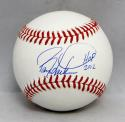 Barry Larkin Autographed Rawlings OML Baseball W/ HOF- JSA Witnessed Auth