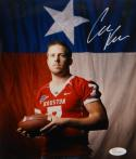Case Keenum Autographed Houston Cougars 8x10 Flag Photo- JSA W Authenticated