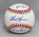 Jim Rice Fred Lynn Dwight Evans Autographed Rawlings OML Baseball- JSA W Auth