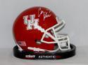 Case Keenum Signed University of Houston Cougars Mini Helmet - JSA W Auth *White