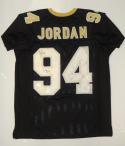 Cameron Jordan Autographed Black Pro Style Jersey W/ Who Dat- JSA W Authenticated