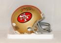 Y.A. Tittle Autographed San Francisco 49ers Mini Helmet W/ HOF- JSA W Authenticated