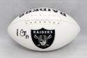Amari Cooper Autographed Oakland Raiders Logo Football- JSA Witnessed Auth