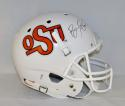 Barry Sanders Autographed Oklahoma State Cowboys Full Size TB Helmet- PSA/DNA Auth