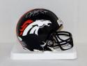 Champ Bailey Autographed Denver Broncos Mini Helmet- JSA Witnessed Auth