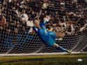 Hope Solo Autographed 16x20 Team USA Blocking Goal Photo- JSA W Authenticated