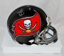 Jameis Winston Autographed Silver Tampa Bay Buccaneers Mini Helmet- JSA Auth