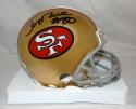 Jerry Rice #80 Autographed San Francisco 49ers Mini Helmet- JSA Witnessed Auth