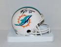 Ricky Williams Autographed Miami Dolphins Mini Helmet- JSA Witnessed Auth
