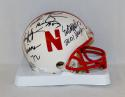 Johnny Rodgers Mike Rozier Eric Crouch Signed Nebraska Mini Helmet- JSA W Auth