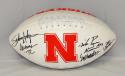 Johnny Rodgers Mike Rozier Eric Crouch Signed Nebraska Logo Football- JSA W Auth