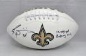 Ricky Williams Autographed New Orleans Logo Football W/ Rushing Club- JSA W Auth