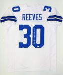 Dan Reeves Autographed White Pro Style Jersey W/ SB Champs- JSA Witnessed Auth