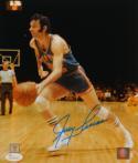 Jerry Lucas Autographed New York Knicks 8x10 Dribbling P.F. Photo- JSA W Auth