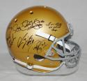 1988 National Champs Autographed Notre Dame Riddell F/S Helmet-JSA W Auth