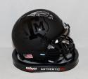 Johnny Manziel Signed *S Texas A&M Aggies Black Mini Helmet W/ HT- JSA W Auth