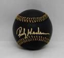 Rickey Henderson Autographed Rawlings OML Black Baseball- JSA Witnessed Auth