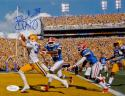 Brad Wing Autographed LSU Tigers 8x10 TD Run Photo- JSA Witnessed Auth