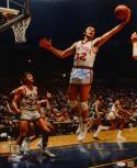 Jerry Lucas Autographed NY Knicks 16x20 Rebounding P.F. Photo W/ HOF- JSA W Auth