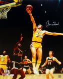 Jerry West Autographed Los Angeles Lakers 16x20 Layup P.F. Photo- PSA/DNA Auth