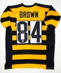 Antonio Brown Autographed Bumble Bee Pro Style Jersey- JSA Witnessed Auth *8
