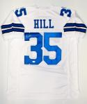 Calvin Hill Autographed White Pro Style Jersey- JSA Witnessed Authenticated