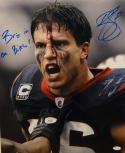 Brian Cushing Signed Texans 16x20 Bloody Photo W/ Bring It On Bitch- JSA W Auth