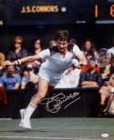 Jimmy Connors Autographed 16x20 Front View Photo- JSA Witnessed Authenticated