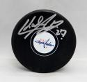 Karl Alzner Autographed Washington Capitals Hockey Puck- JSA Witnessed Auth