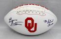 Brian Bosworth Autographed OU Sooners Logo Football W/ Nat'l Champs- JSA W Auth