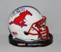 Emmanuel Sanders Autographed SMU Mustangs Schutt Mini Helmet- JSA Witnessed Auth