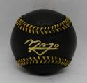 Manny Machado Autographed Rawlings OML Black Baseball- JSA Witnessed Auth