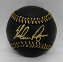 Nolan Ryan Autographed Rawlings OML Black Baseball- JSA Authenticated