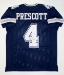 Dak Prescott Autographed Blue Pro Style Jersey with JSA Witnessed Auth