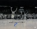 Christian Laettner Autographed Duke 16x20 The Shot B/W Photo- JSA Witnessed Auth