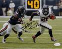 Lamar Miller Signed *Black Houston Texans 8x10 Breakaway Run Photo- JSA W Auth