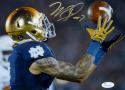 Will Fuller Autographed Notre Dame 8x10 Over The Shoulder Catch Photo-JSA W Auth