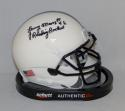 Lenny Moore Autographed Penn State Mini Helmet With Reading Rocket- JSA W Auth