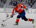 Alexander Ovechkin Signed Capitals 16x20 B&W Color Shooting Photo- PSA/DNA Auth