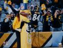 Antonio Brown Autographed *Blue Steelers 16x20 Goal Post PF. Photo- JSA W Auth