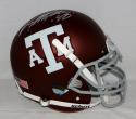 Von Miller Autographed Texas A&M Aggies Maroon F/S Authentic Helmet- JSA W Auth