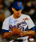 Nolan Ryan Autographed Texas Rangers 8x10 Bloody Lip Photo- JSA Authenticated