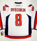 Alexander Ovechkin Autographed Washington Capitals White Reebok Jersey- PSA Auth
