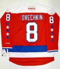 Alexander Ovechkin Autographed Washington Capitals Red Reebok Jersey- PSA Auth