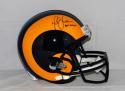 Marshall Faulk Autographed St. Louis Rams TB Full Size Helmet W/ HOF- JSA W Auth