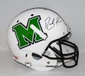 Randy Moss Autographed Marshall Thundering Herd F/S Schutt Helmet- JSA W Auth