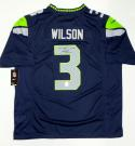 Russell Wilson Signed Seattle Seahawks NFL Nike Authentic Jersey- Wilson Holo